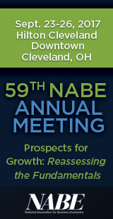 The 2017 NABE Annual Meeting will debate collective challenges under the theme Prospects for Growth: Reassessing the Fundamentals. Join us as leading economists and policymakers dissect the shifts underway in the nature and contours of globalization, the prospects for global trade, and mercantilist tensions visible just below the surface. We will debate the future of work, new business models, the productivity puzzle, and the role of business economists in an innovation tech-driven economy. Crucially, our understanding will be enhanced by the views of CEOs from the finance, energy, and healthcare sectors. Come to Cleveland to learn the new notes and rhythms impacting the global economy.