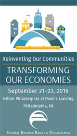 From Sept 21-23, the Federal Reserve Bank of Philadelphia and its cosponsors will welcome community development innovators and leaders to the eighth biennial Reinventing Older Communities conference. This year's theme is Bridging Growth & Opportunity.